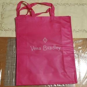 5/$25  Vera Bradley Pink Shopping Bag